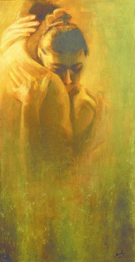 L'abbraccio. Acrilico su tela (2011)
