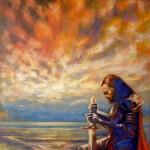 Il cavaliere del Cielo. Acrilico su tela (2012)