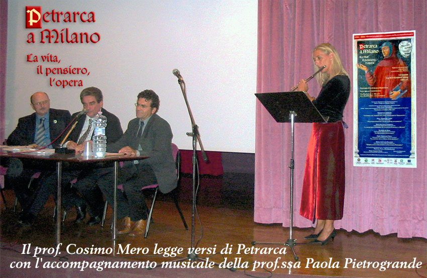 Un momento magico nel Convegno 'Petrarca a Milano (2004)