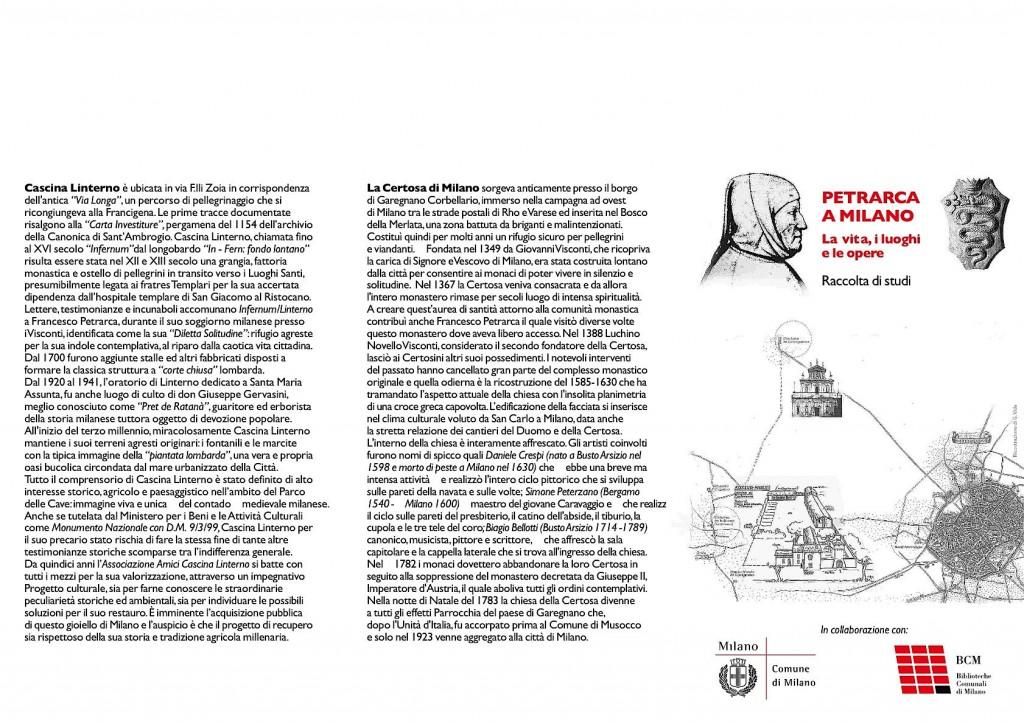 Invito Comune di Milano presentazione libro 'Petrarca a Milano' (2008)