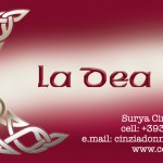 La Dea. Immagine coordinata biglietto da visita. (2013)