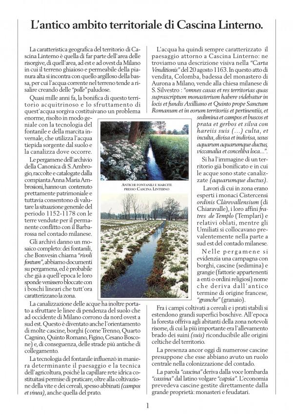Estratto dalla ricerca 'Note storiche Linterno e il suo territorio' (2008)