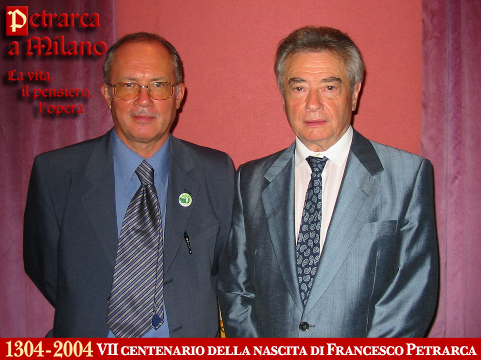 Massimo de Rigo e lo storico Nerio de Carlo al Convegno (2004)