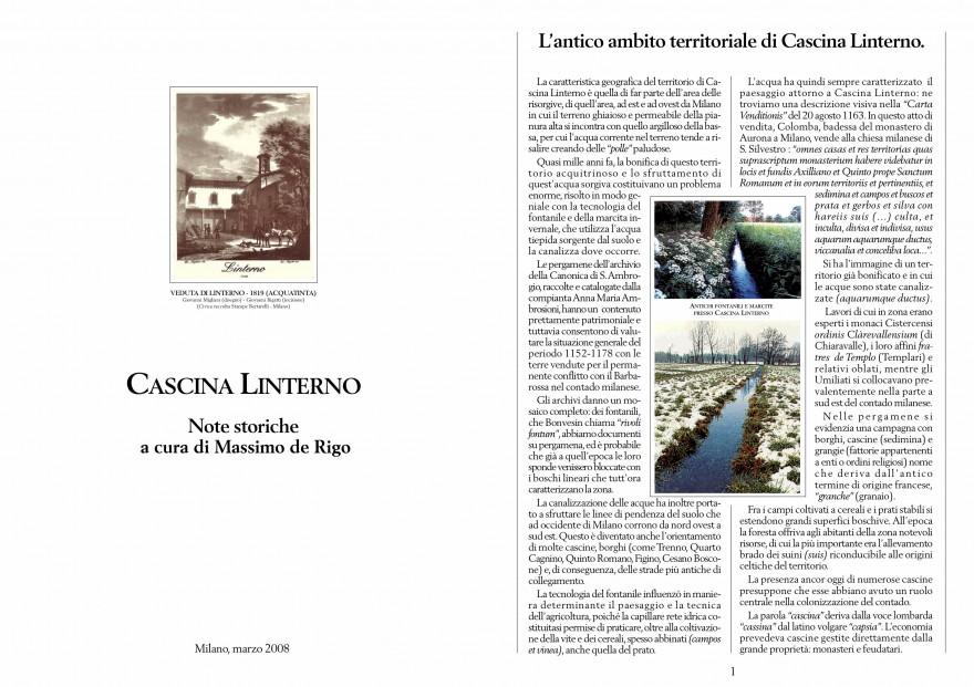 Note storiche Linterno e il suo territorio (2008)