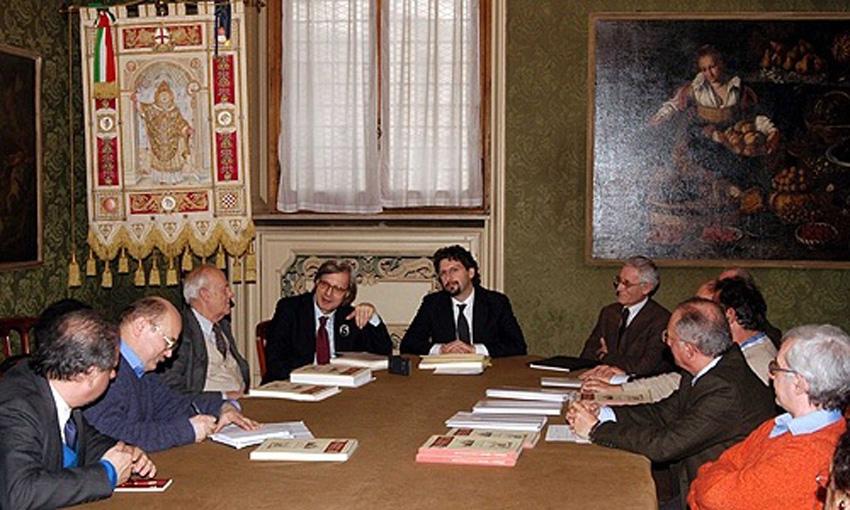 Conferenza stampa a Palazzo Marino per il libro 'Petrarca a Milano' (2008)