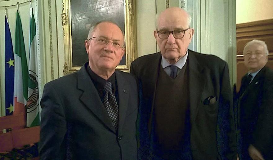 Assieme a Ulrico Hoepli e GianMario Maggi