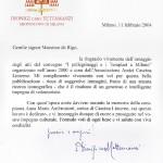 Lettera di encomio del Cardinale Tettamanzi (2004)
