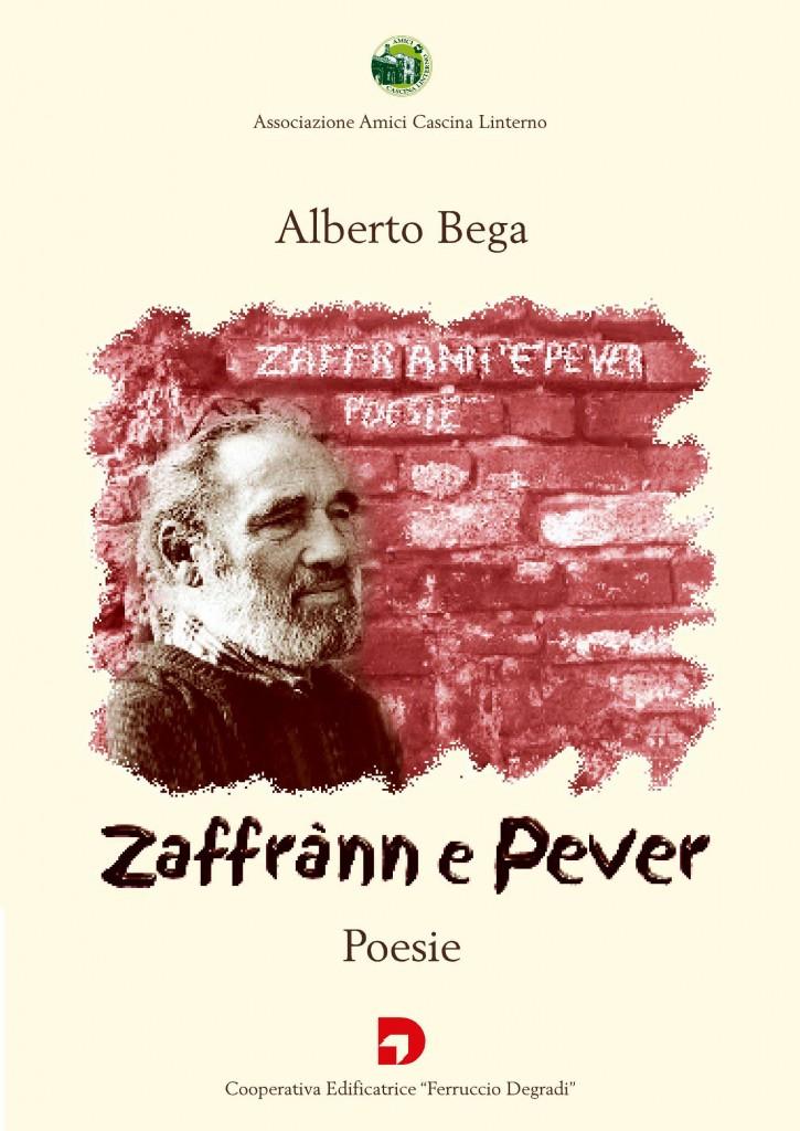 Copertina del libro di poesie di Alberto Bega 'Zaffran e Pever' (2003)