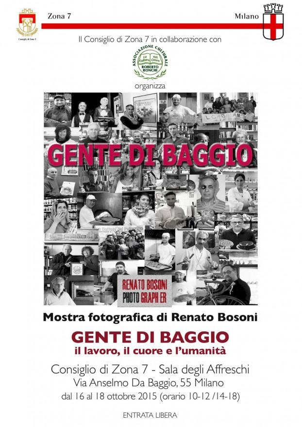 Locandina Mostra 'Gente di Baggio' (2015)