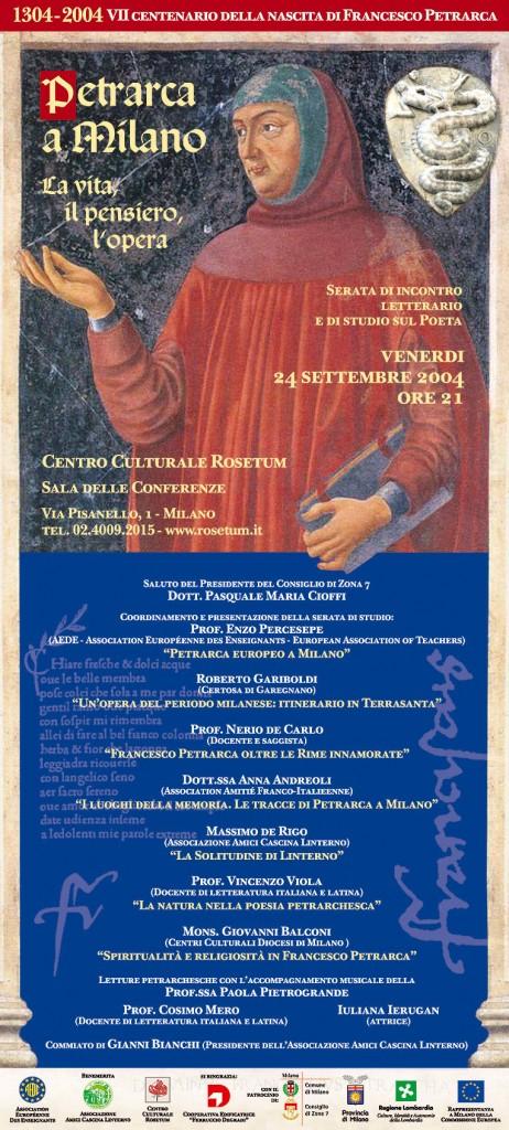 locandina 'Petrarca a Milano' (2004)