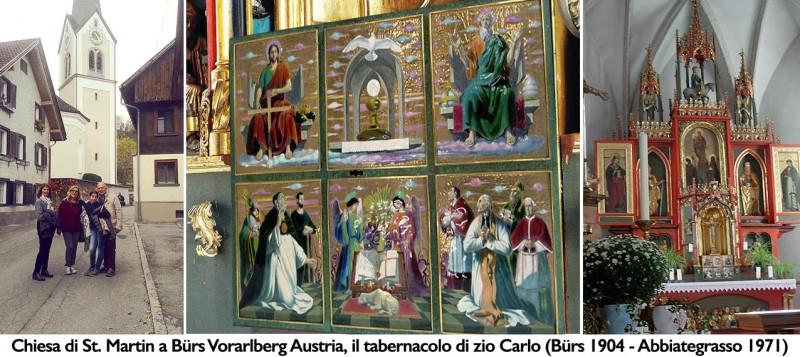 Chiesa di St. Martin a Buers Vorarlberg Austria, tabernacolo di zio Carlo de Rigo