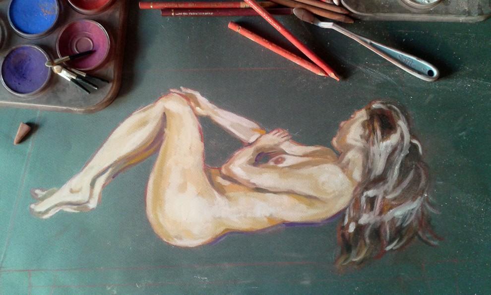 Studio di nudo in corso d'opera (2017)