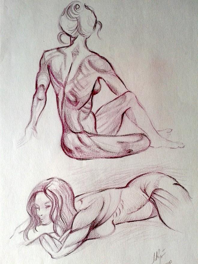 Studi anatomici.Matita sanguigna (2009)
