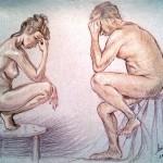 Silenzio di coppia. Pastello (2010)