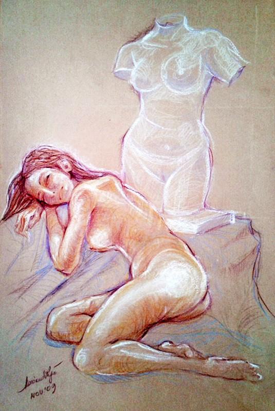 Le due modelle. Pastelli (2009)
