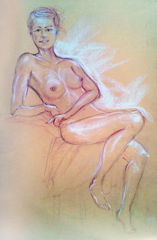 Nudo di ragazza. Pastello (2013)