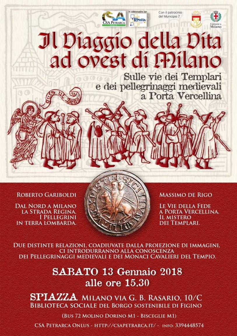 Locandina conferenza 'Il Viaggio della Vita ad ovest di Milano' (2018)