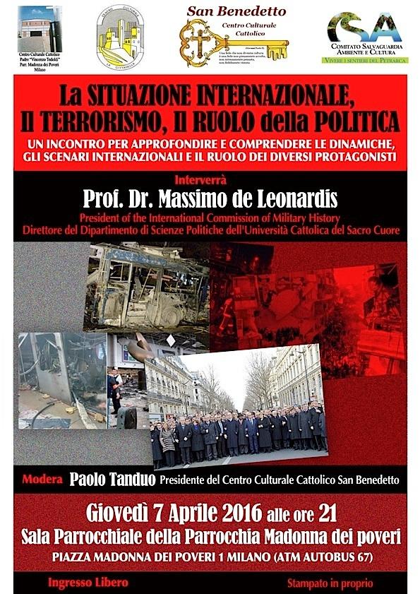 Poster Conferenza terrorismo (2016)