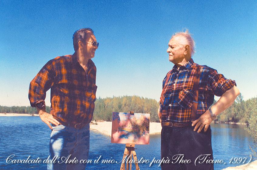 Cavalcate dell'Arte con il mio Maestro papà Theo. (Ticino, maggio 1997)