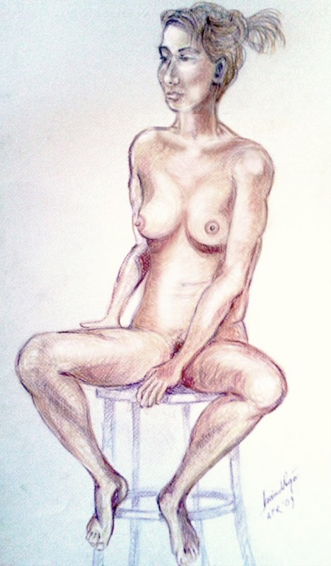 Nudo di giovane donna. Pastello (2009)