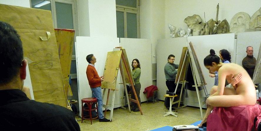 Laboratorio di Figura dal vivo. Scuola sup. d'Arte del Castello