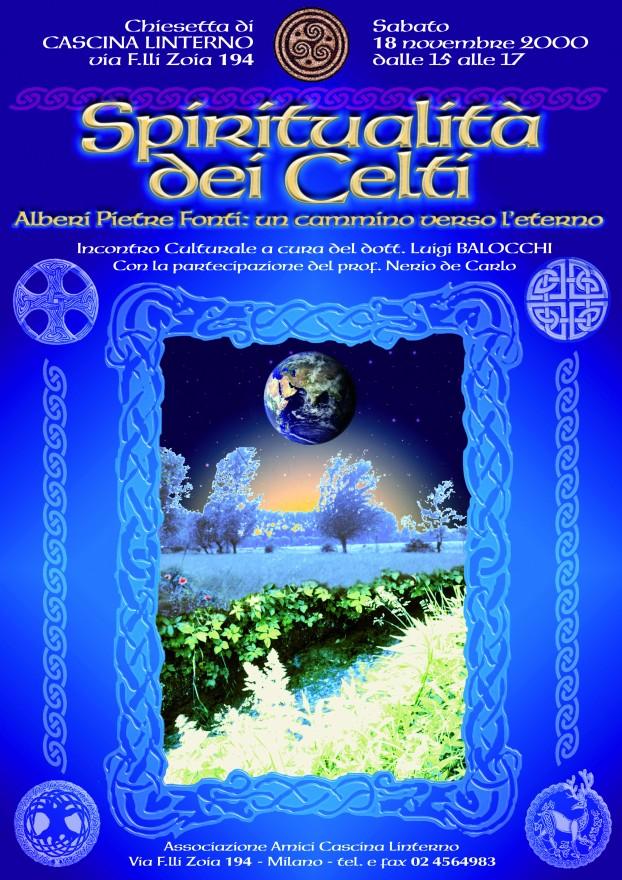 """Conferenza """"Spiritualità dei Celti"""". Locandina (2000)"""