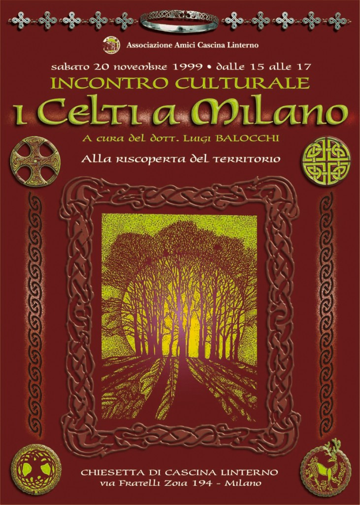 """Conferenza """"I Celti a Milano"""". Locandina (1999)"""