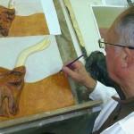 Lavorazione bassorilievo Minotauro (2014)