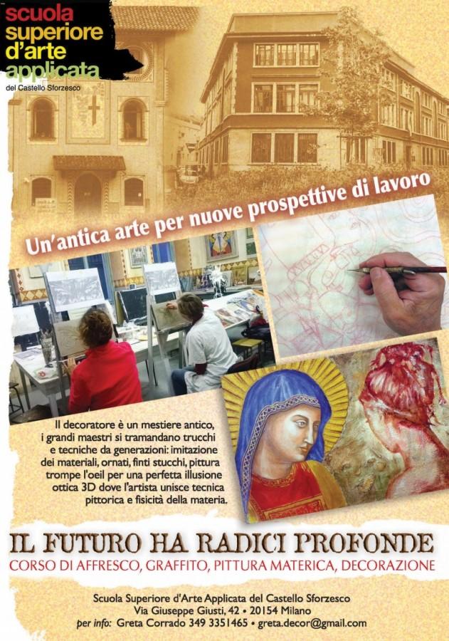Manifesto Corso di Affresco (2017). Grafica di Massimo de Rigo