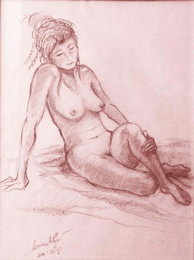 Studio figura. Sanguigna su carta (2009)