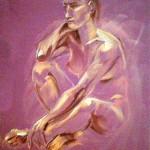 Nudo femminile. Pan pastel colors su cartoncino (2017)