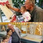 Nonno e nipotine. Live painting Scuola d'Arte (2017)