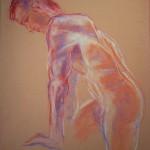 studio nudo maschile. Pastello (2012)