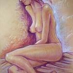 Modella nuda Carpignago. Matite su carta (2009)