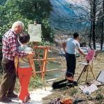 Nonno Theo, papà Massimo e Danile, tre generazioni in campo (1992)
