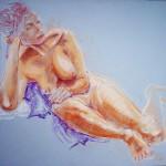 Raffaella, posa classica. Pastello su cartoncino (2012)