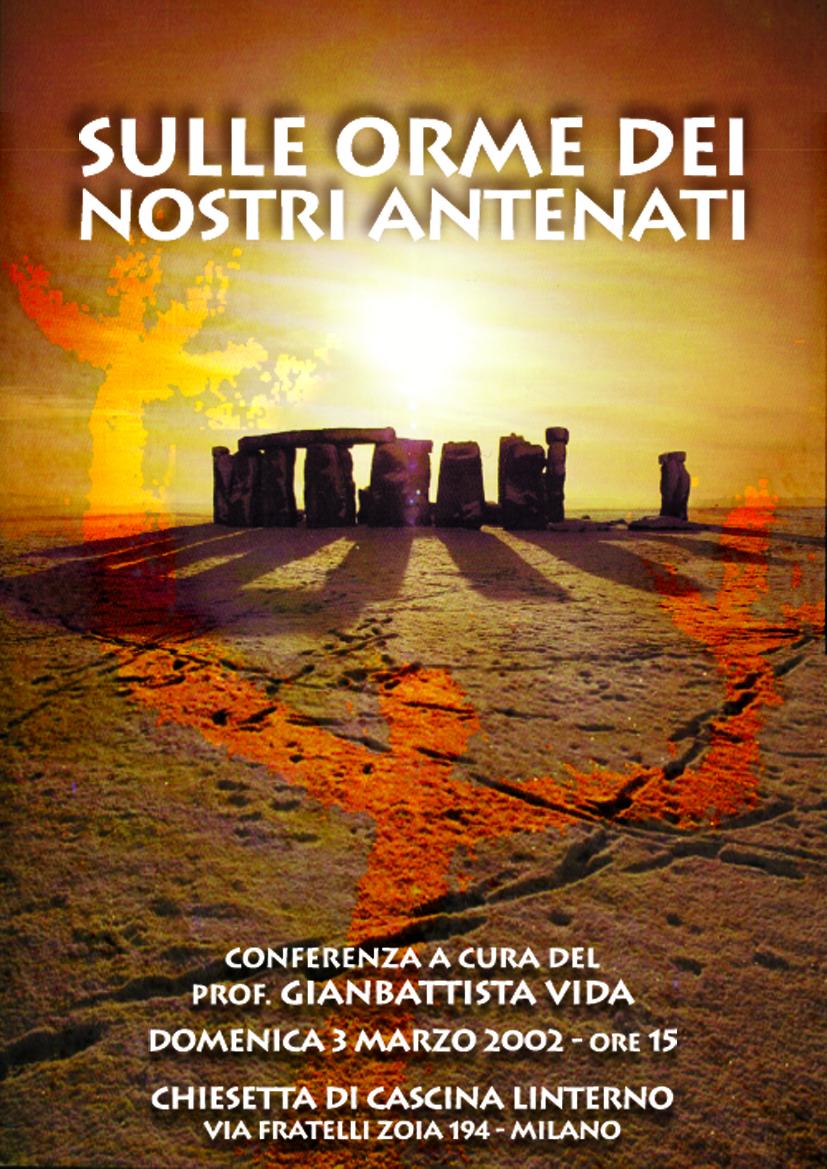 Conferenza 'Sulle Orme dei Nostri Antenati'. Locandina (2001)