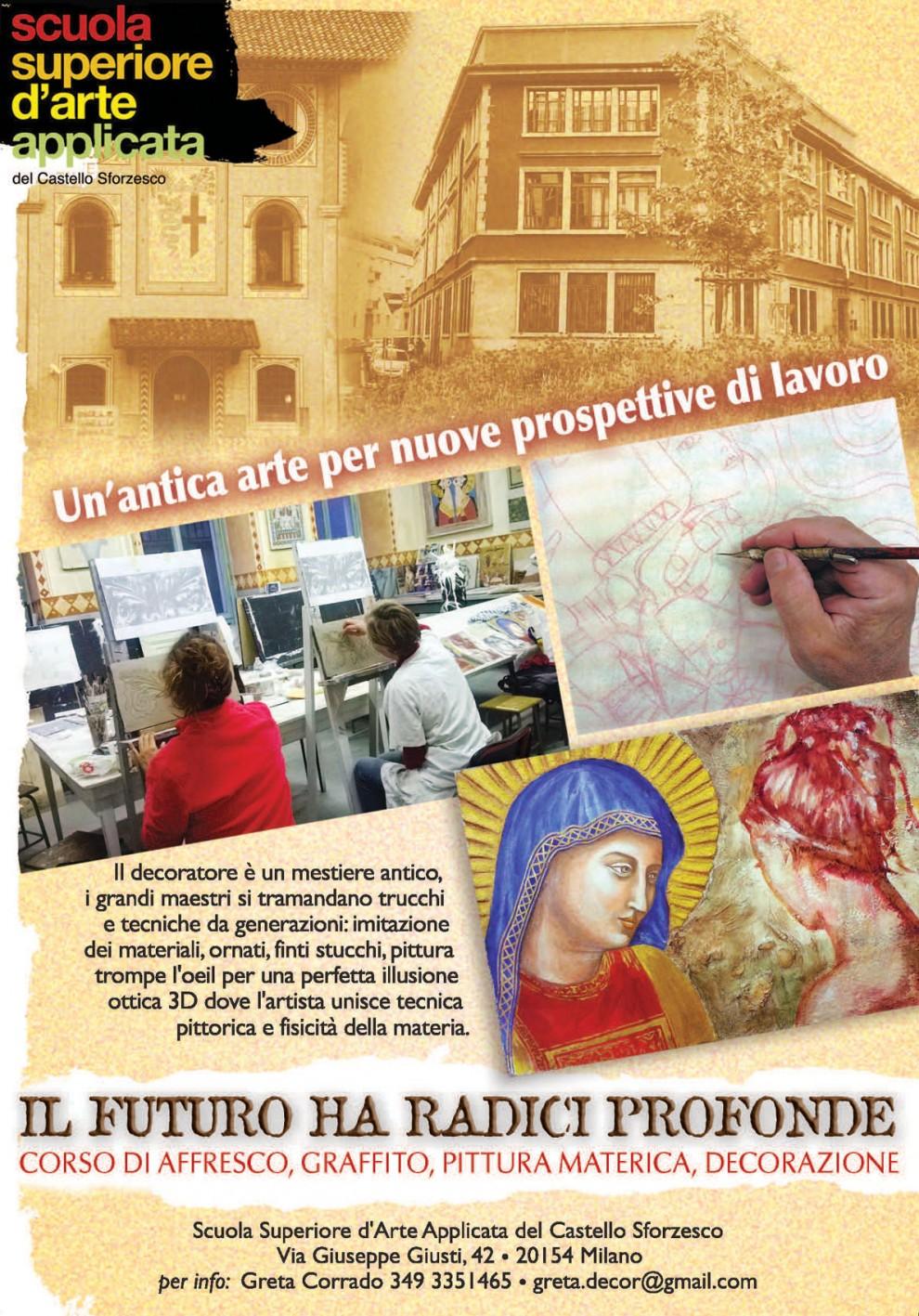 Volantino Corso d'Affresco Scuola d'Arte Castello sforzesco (2017)