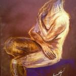 Studio busto maschile. Pastello su cartoncino (2011)