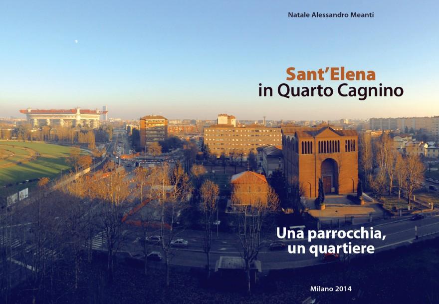 Copertina e retro libro storia della parrocchia di Sant'Elena (2015)