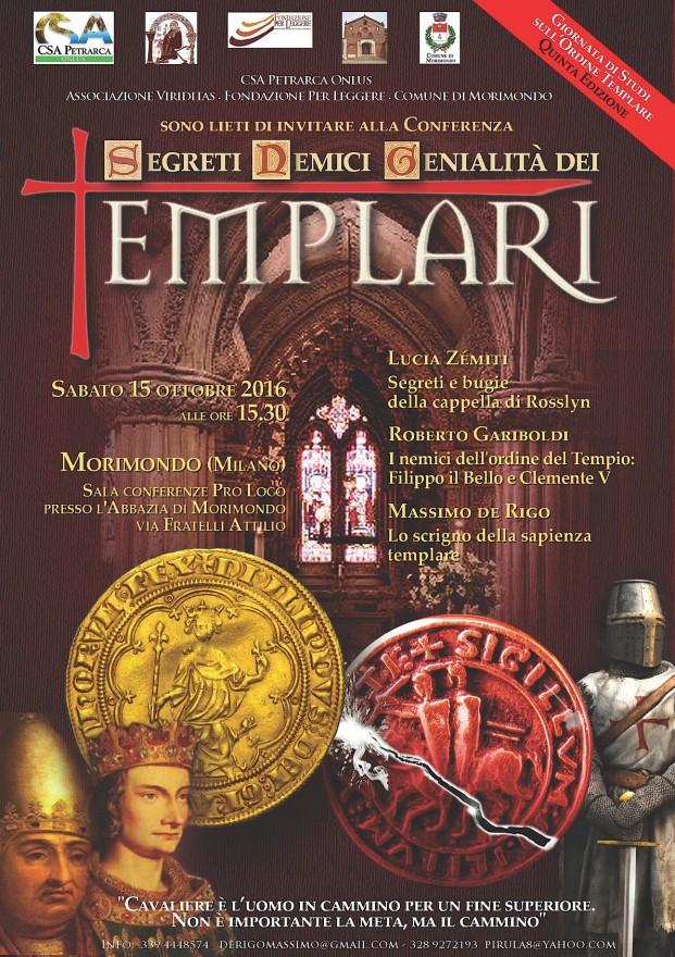 Poster conferenza 'Segreti Nemici Genialità dei Templari' (2016)