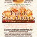 'Falò di Sant'Antonio'. Locandina (2011)