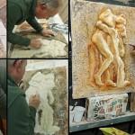 Lavorazione bassorilievo Vertumnus e Pomona (2015)
