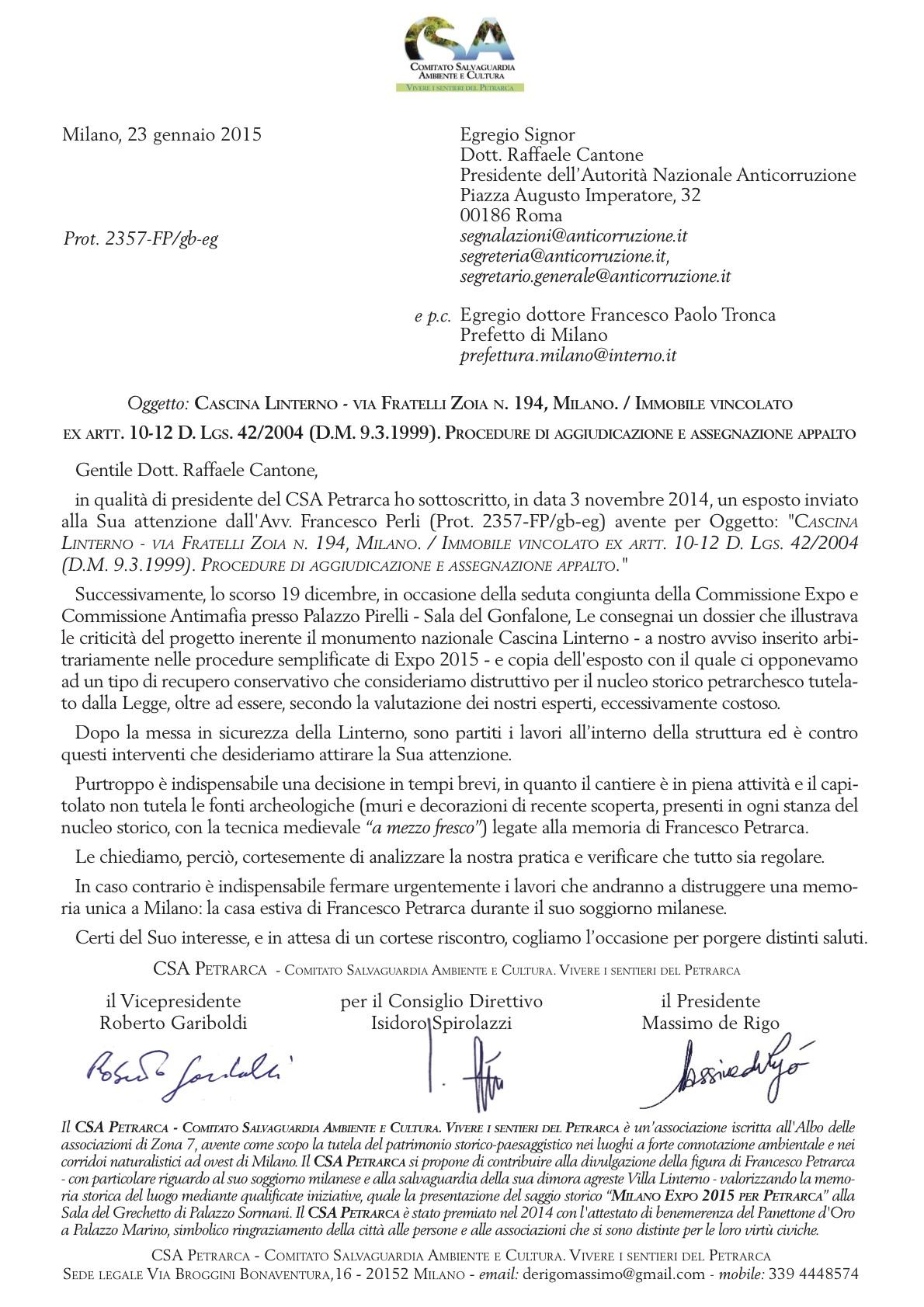 Lettera CSA_ANAC Cantone (2015)