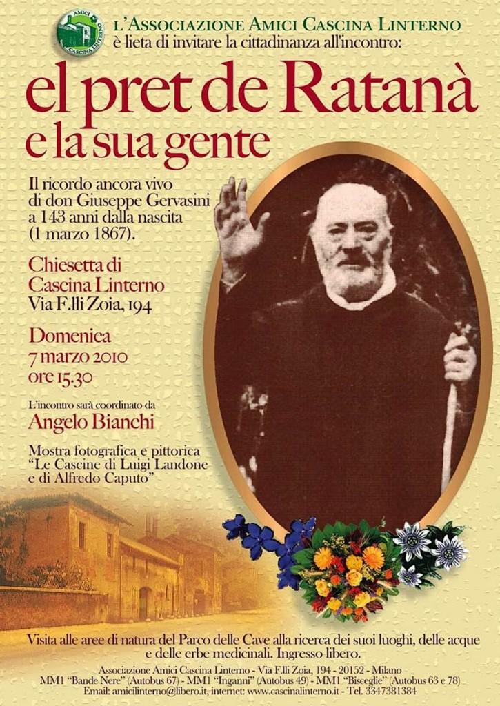 Conferenza don Giuseppe Gervasini. Locandina (2010)