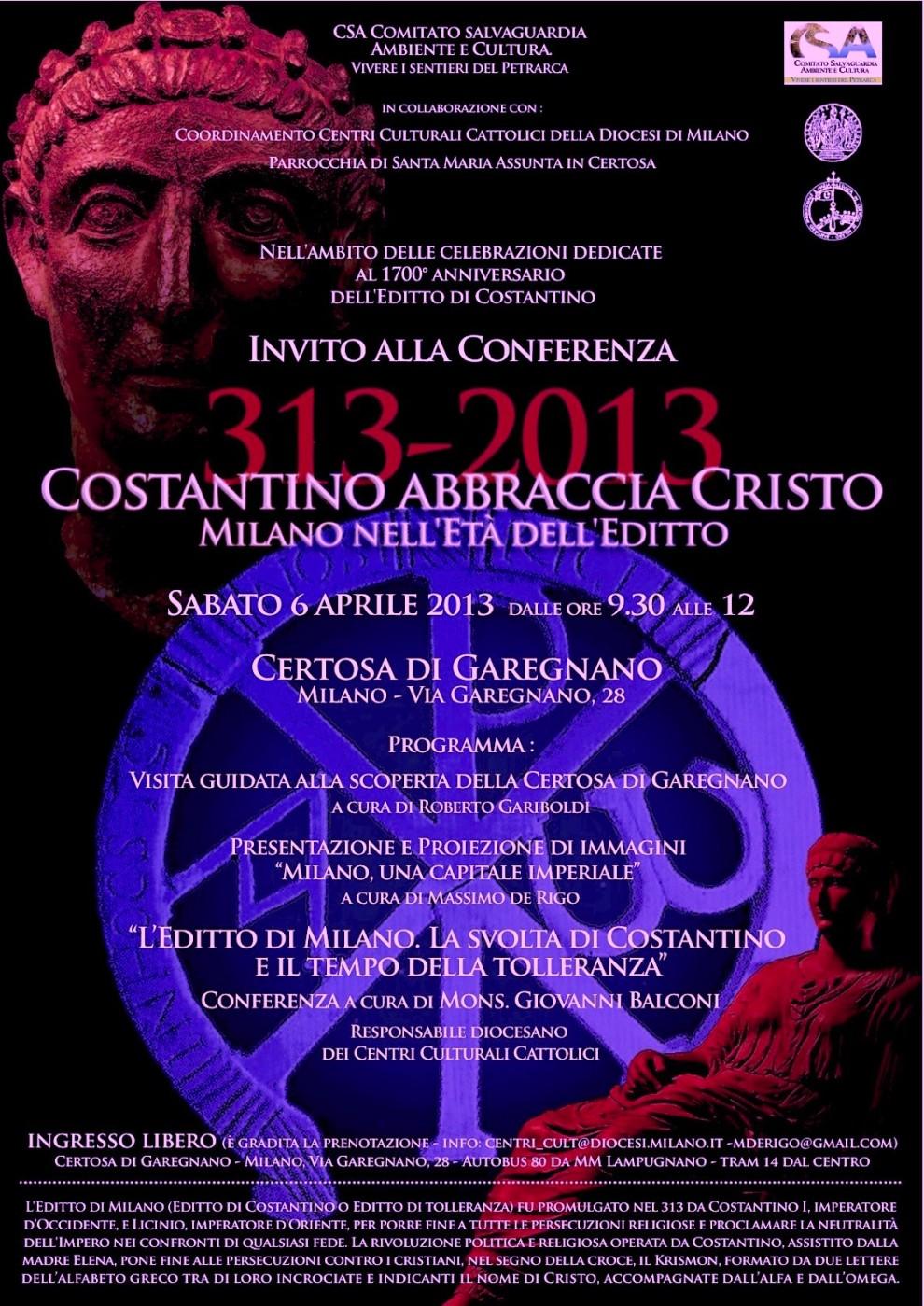 locandina Editto di Costantino (2013)