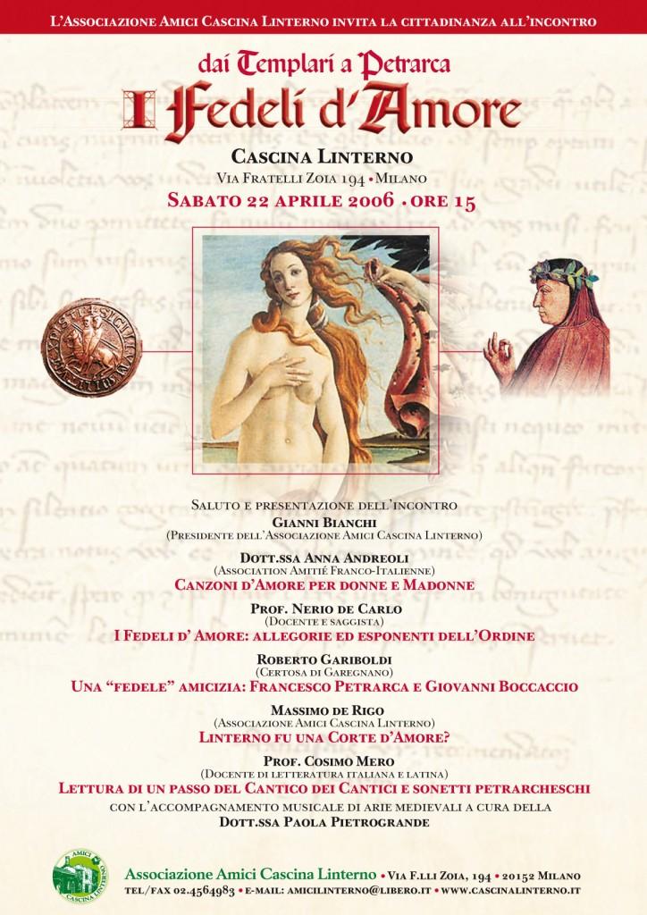 Conferenza 'I Fedeli d'Amore'. Locandina (2006)