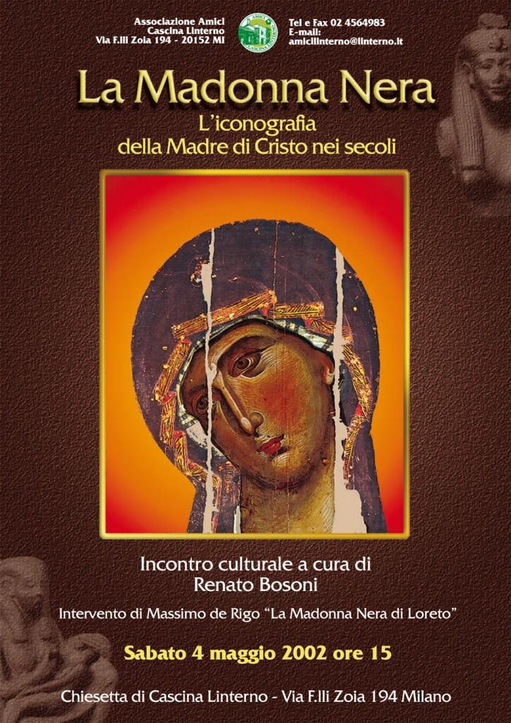 """Conferenza """"La Madonna Nera"""". Locandina (2002)"""