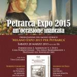 Locandina conferenza 'Petrarca Expo 2015, un'occasione mancata' (2015)