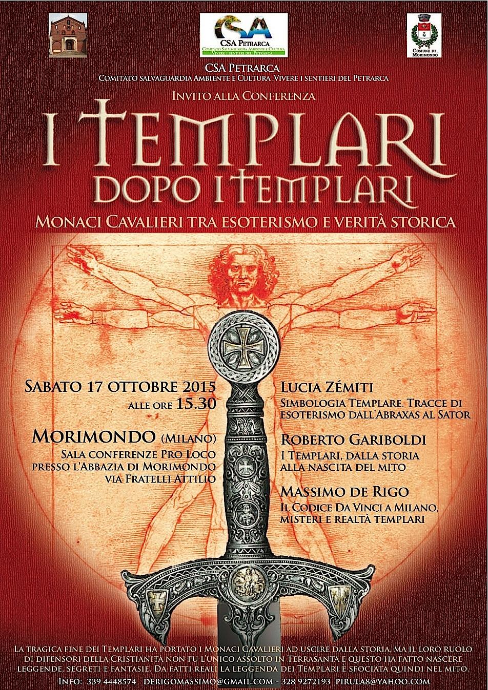 Poster conferenza 'I Templari dopo i Templari' (2015)